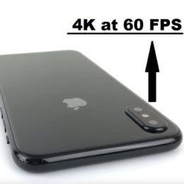 iphone x 4k at 60 fps