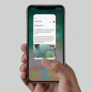 iphone x swipe for home gesture