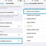 setting up smart invert colors accessibility shortcut