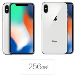 256 gb iphone x silver