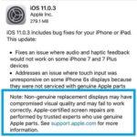 apple promoting certified screen repairs in ios 11.0.3 release notes