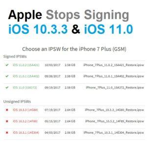 apple unsings ios 10.3.3 and ios 11.0
