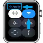 apple watch 3 wi-fi toggle and network name in control center
