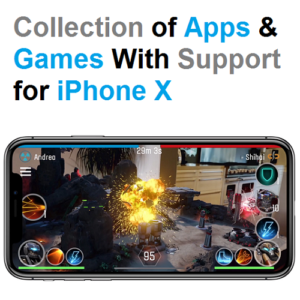 collection of apps and games with support for iphone x