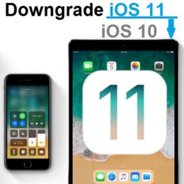 downgrade ios 11 to ios 10