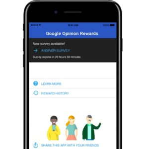 google opinion rewards ios app home screen