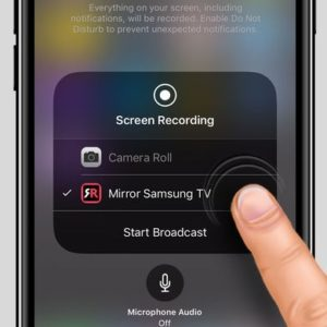 how to mirror iphone to samsung tv