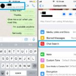 how to perform a chat specific search in whatsapp