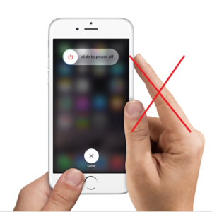 how to turn off iphone without power button