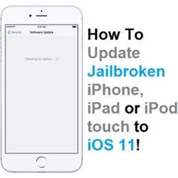 how to update jailbroken iphone to ios 11