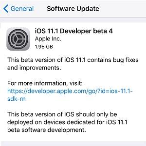 ios 11 developer beta 4
