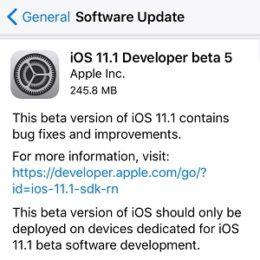 ios 11.1 beta 5