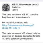 ios 11.1 developer beta 3 software update