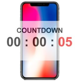 iphone x pre-order countdown timer