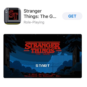 stranger things app store game