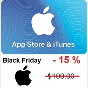 App Store and iTunes gift cards Black Friday deal.