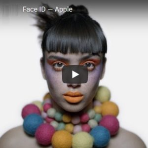 Apple iPhone X Face ID ad.