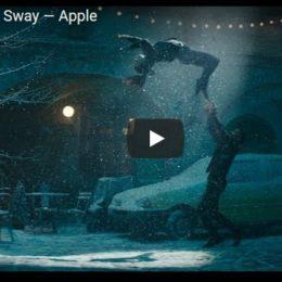 Apple's 'Sway' winter holiday ad screenshot.