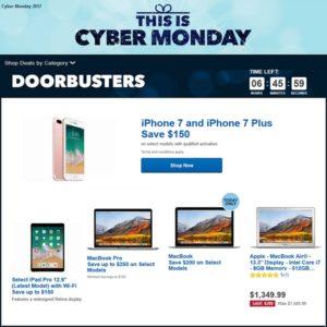 Best Buy Doorbusters and Cyber Monday deals.