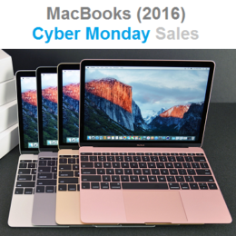 Cyber Monday sales for 2016 MacBooks.