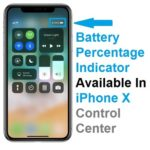 how to display battery percentage indicator on iphone x