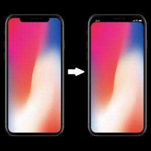 how to hide the iphone x notch