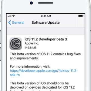 ios 11.2 beta 3 software update