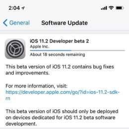 ios 11.2 developer beta 2 iphone x software update