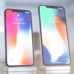 iphone x plus next to iphone x render
