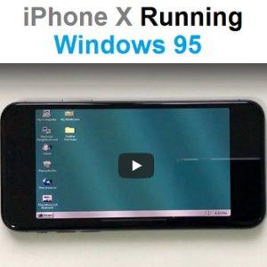 iphone x running windows 95
