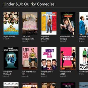iTunes movie deals during Cyber Monday week.