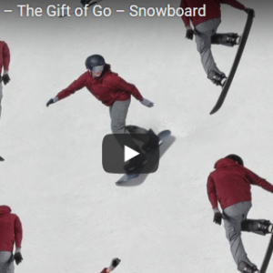 Apple Watch 3 'The Gift of Go' snowboard commercial.