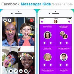 Facebook Messenger Kids screenshots.