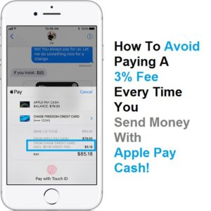 how to avoid the 3 percent apple pay cash fee