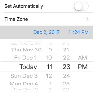 How to set Date and Time manually on iPhone.
