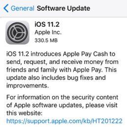 iOS 11.2 Software Update