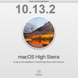 macOS High Sierra 10.13.2 Software Update.