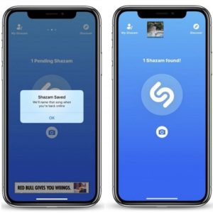 Shazam working in offline mode