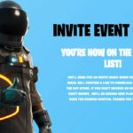Fortnite invite event for iOS