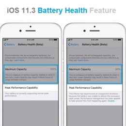 iOS 11.3 Battery Health feature.