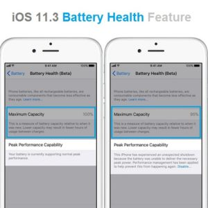 iOS 11.3 Battery Health feature.