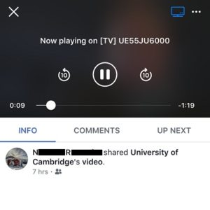 iphone mirroring facebook video on smart tv