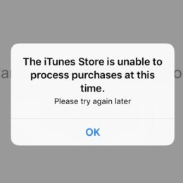 itunes store is unable to process purchases at this time prompt