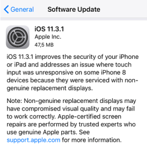 ios 11.3.1 software update