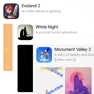evoland 2, white night and monument valley 2 on sale