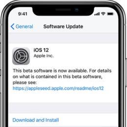 ios 12 public beta software update