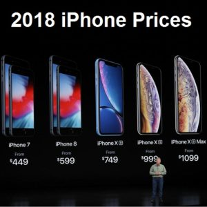 2018 iphone lineup pricing