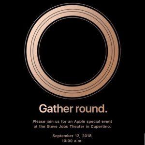 gather round september 12 apple keynote invite