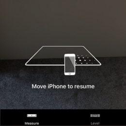 iphone running measure app