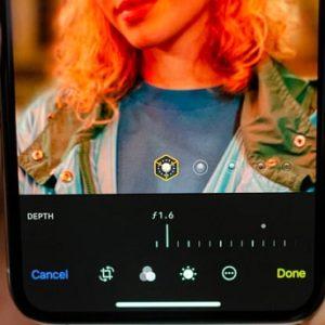 iphone xs portrait mode depth control feature